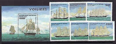 Benin Sc 850-56 NH ISSUE of 1996 - Ships