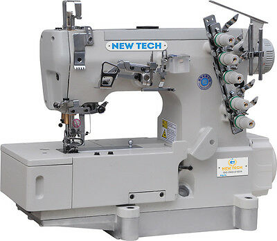 NEW-TECH Coverstitch 3-Needle,5-Thread Sewing Machine with Direct Drive USA SALE