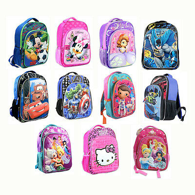 """Boys Girls LICENSED 16"""" Backpack 3D Pop-Out Design School Bag Mickey Minnie Cars"""