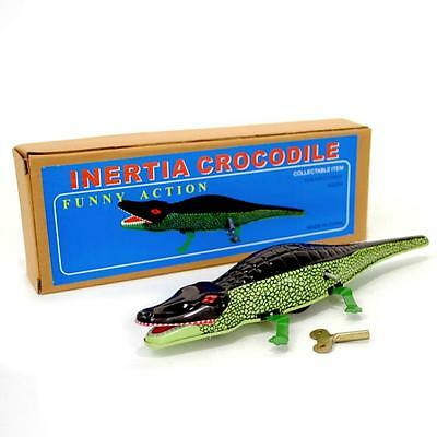 WIND UP CROCODILE Collectible Moving Tin Toy Alligator Gator Vintage Style NIB