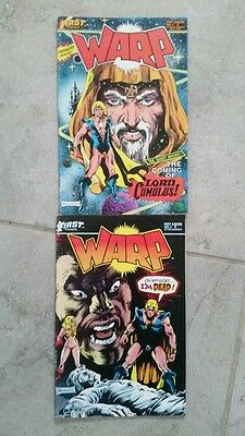 First Comic Book lot of 2 Warp #1 and 3  1983