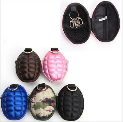 Hotsell Grenade Keychain Zippered Coin Money Change Key Wallet Pocket Pouch LG