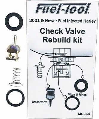 Fuel Tool Check Valve Rebuild Kit 01 up Fuel Injected Harley Davidson MC300