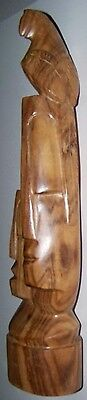 """15"""" HAND CARVED LIGHTWOOD ARTWORK - by TREAT - MADE IN FIJI - LIGHT"""