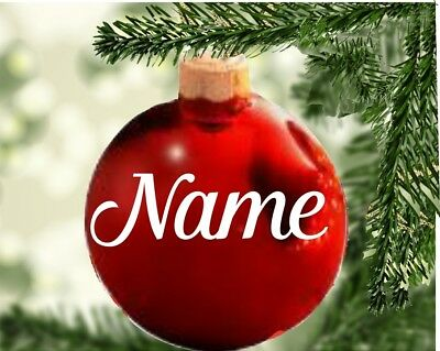 Vinyl sticker Christmas Bauble Personalise Name or Motif - Personalised Baubles