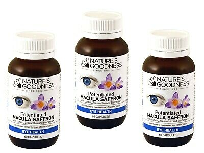 Natures Goodness MACULAR HEALTH SAFFON with Lutein & Zeaxathin 3 x 60 capsules