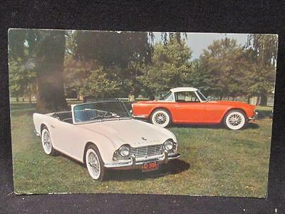 Triumph TR-4 Convertible & Hard-Top Coupe 1970 Color Postcard Ottawa Cancel
