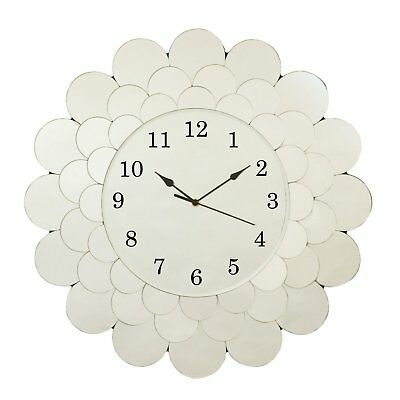 Innova Editions Fleur All Glass Large Size Home Analogue Quartz Wall Mount Clock
