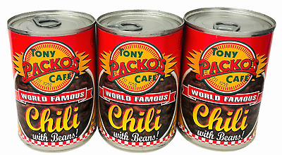 Tony Packo's World Famous Chili with Beans 15 oz (3 Cans)