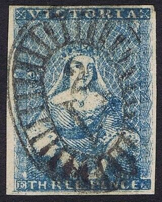 Victoria 1850 3d Blue SG 11 Very Fine Used