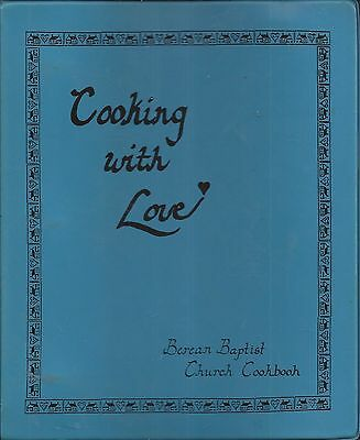 *burnsville Mn 1988 Berean Baptist Church Cook Book *cooking With Love *history