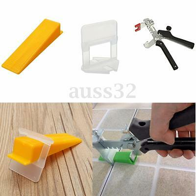 50~500pcs Tile Leveling System Kit Floor Wall Tool Clip Wedge + Floor Plier