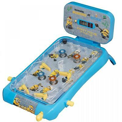 Despicable Me Minion Electronic Table Top Super Pinball Machine Toy Game Gift