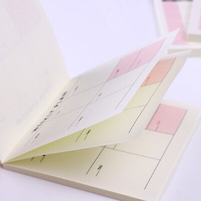 Work Planner Memo Pad School Office Supplies Scratchpad Stationery