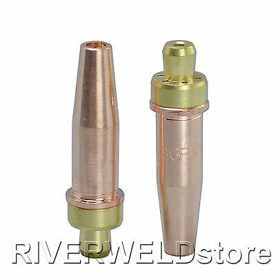 2pcs Propane / Natural Gas Cutting Tip 3-GPN Size 1 Fit For Victor Oxyfuel Torch