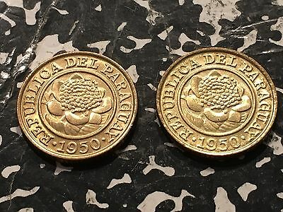1950 Paraguay 1 Centimo (2 Available!) Beautiful! (1 Coin Only)