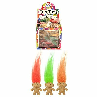 Childrens Kids Retro Lucky Trolls Toy Pencil Topper Party Loot Bag Fillers