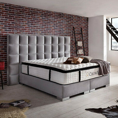 clarence boxspringbett hotelbett designerbett bett luxusbett 200 x 200 cm grau eur. Black Bedroom Furniture Sets. Home Design Ideas