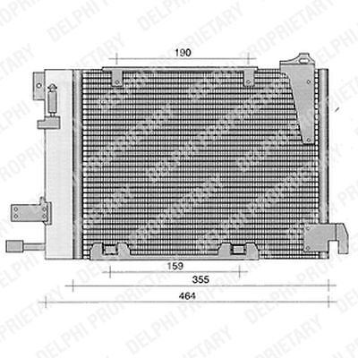 Genuine Delphi Condenser Air Con Conditioning TSP0225221