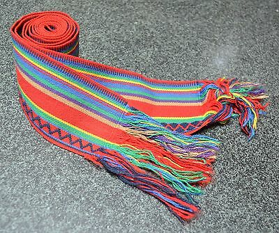 Handmade Woven Red Ceremonial Belt Worn For Protection - Chumpis - Peru