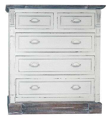 White Shabby Chic Vintage 3+2 Drawer Chest Bedroom Furniture - Matching Pieces!