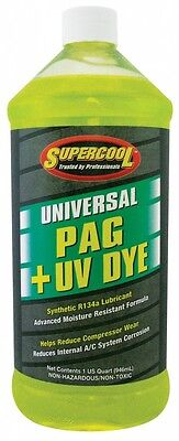 Supercool Universal PAG Oil UV Dye Air Con Conditoning System Lubricant R134a