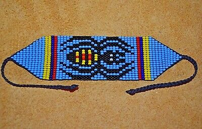 Glass Seed Bead Loom Work Iktomi Spider Beadwork Ceremony Bracelet, Colombia