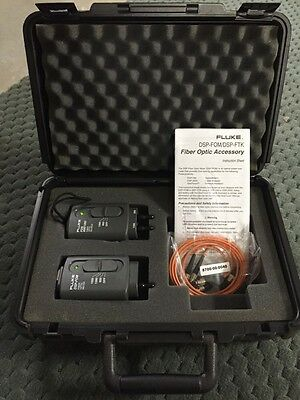 Fluke DSP-FOM Fiber Optic Meter FOS 850/1300 Fiber Optic Source