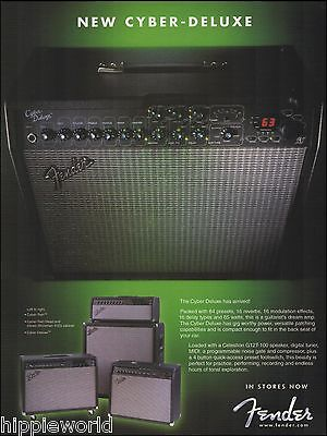 The Fender Cyber-Deluxe Amp Series 2002 ad 8 x 11 amplifier advertisement