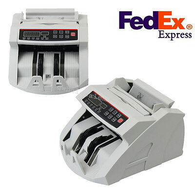 Bill Money Currency Counter Counting Machine Counterfeit Detector Checker UV/MG