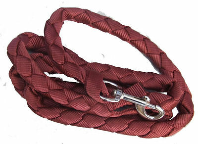 Ecotak 2m polypropylene lead rope/rein with replaceable clip - burgandy Ecotak