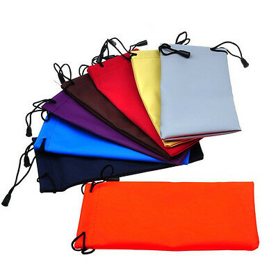 Microfiber Pouch Bag For Sunglasses  Glass Lanyard Cloth Drawstring Dust Pouch