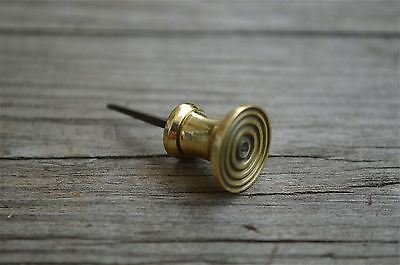 Quality small solid brass Georgian bullseye knob tea caddy lid restoration 2012