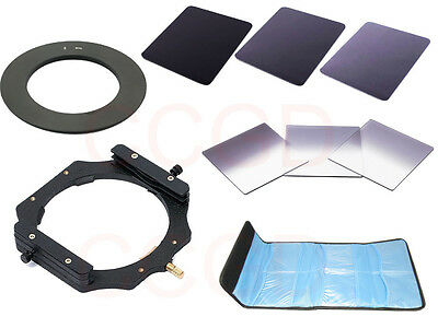 NEW 6 in 1 100MM ND2+ND4+ND8 Gradual filter +58mm ring +holder For Cokin Z LEE