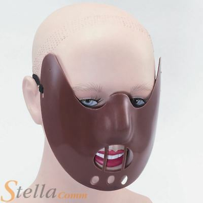 Hannibal Lecter Plastic Face Mask Halloween Fancy Dress Costume Accessory