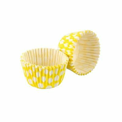 Tala Yellow / White Spotty Cupcake Cases, Made in England