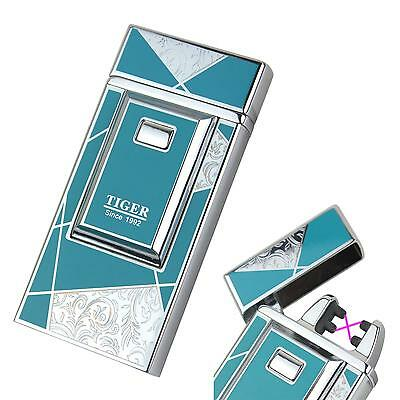 Tiger Resin Coating Luxury Electric X Double Arc Rechargeable Cigarette Lighter
