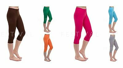 Girls Leggings Cropped 3/4 Length Childrens Fashion Leggings Ages 8 -16yr