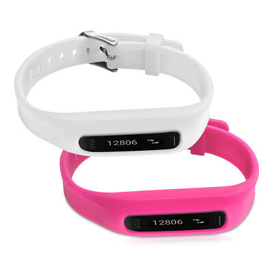 kwmobile  2X SILICONE SPARE BRACELET FOR FITBIT ONE WHITE FITNESS CLOCK CLASP