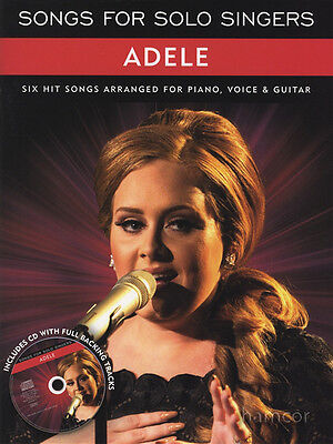 Adele Songs for Solo Singers Sheet Music Book & Backing CD Piano Vocal Guitar