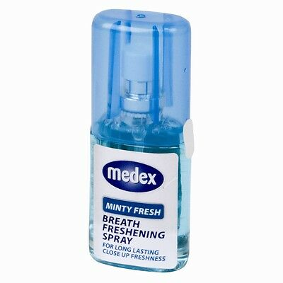 20ml Mint Medex Breath Freshener Mouth Spray Bad Breath Long Lasting Pocket Size