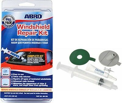 Abro Windscreen Window Glass DIY Resin Repair Kit For Cracks Chips Easy to Use