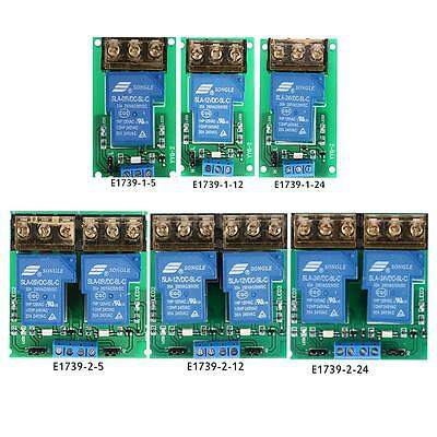 Pro 5/12/24V 30A Relay Board Module Optocoupler Isolation High/Low Trigger F2E8