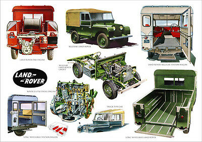 Land Rover Series 1 Swb Lwb Range Retro A3 Poster Print From Classic Advert