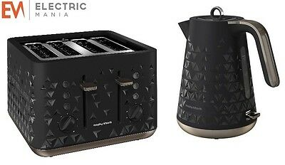Morphy Richards 248101 108251 Prism Stylish Kettle And Four-Slice Toaster Black