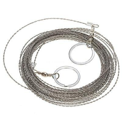 Wire Saw Camping Hiking Outdoor Tool Kit Survival Gear Portable Rescue 10m J5G7