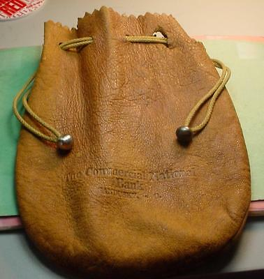 "VINTAGE BANK BAG SANDUSKY OH SOFT LEATHER 7x5"" GREAT CONDITION #E16  ZF1257B"