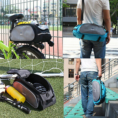 Outdoor Waterproof Bicycle Bike Cycling Cycle Frame Rack Pack Bag Panniers UK