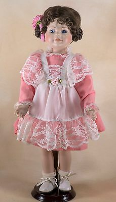 Vintage Ashton Drake Galleries Porcelain 1992 Doll 14 Inch With Stand
