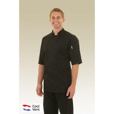 Chef Works Montreal Chef Coat Jacket - Black - White - All Sizes - JLCV